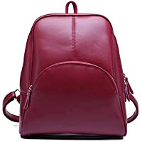 PU leather fashion backpack for women red