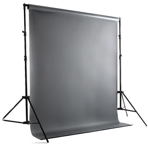 Savage Port-a-Stand and Vinyl Background Kit, 5 x12', Gray
