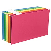 Smead Hanging File Folder, 1/5-Cut Adjustable Tab, Legal Size, Assorted Colors, 25 per Box (64159)