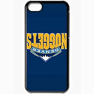 Personalized iPhone 5C Cell phone Case/Cover Skin Nba Denver Nuggets 4 Sport Black