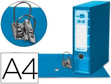5 ARCHIVADORES DE PALANCA LIDERPAPEL A4 FILING SYSTEM CELESTE CON CAJA: Amazon.es: Oficina y papelería