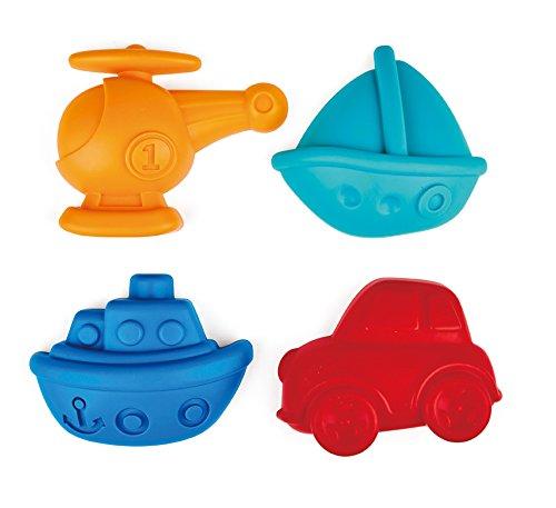 Hape Beach Toy Travel Sand Shaper Mold Set Toys, Multicolor (Toddler Travel Beach Toys)