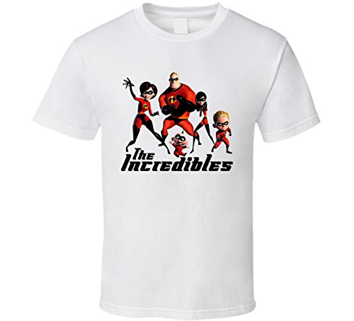 T Shirt Bandit The Incredibles Animated Movie T Shirt 2Xl White