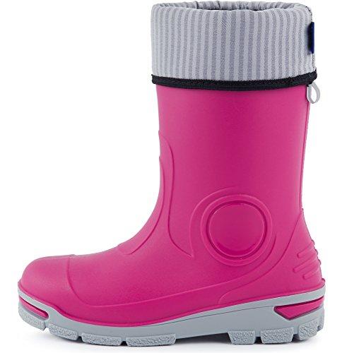 Ladeheid Kinder Gummistiefel mit Warme Socke LARB013 Rosa