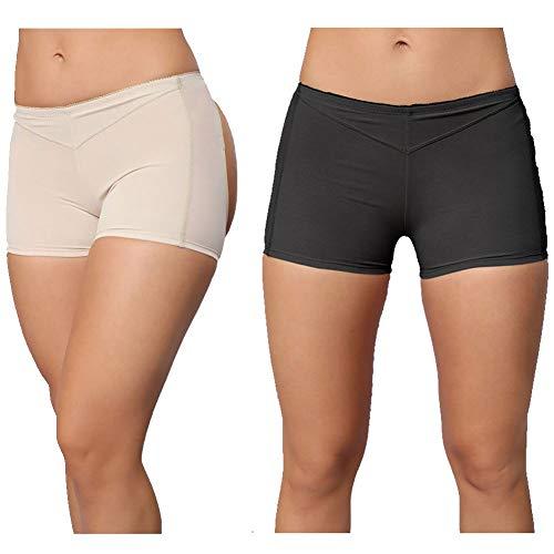 f640661852b JITIFI Women s Body Shaper Booty Butt Lifter Enhancer Body Shorts Seamless  Panty