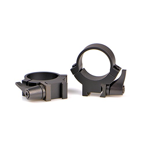 Warne Maxima 7.3/22 Rings for 1in. QD .22, Medium - Matte Black 721LM ()