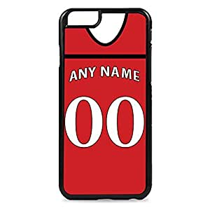 Case Fun Case Fun Personalised Cardiff City Football Shirt, Any Name, Any Number Snap-on Hard Back Case Cover for Apple iPhone 6 4.7 inch