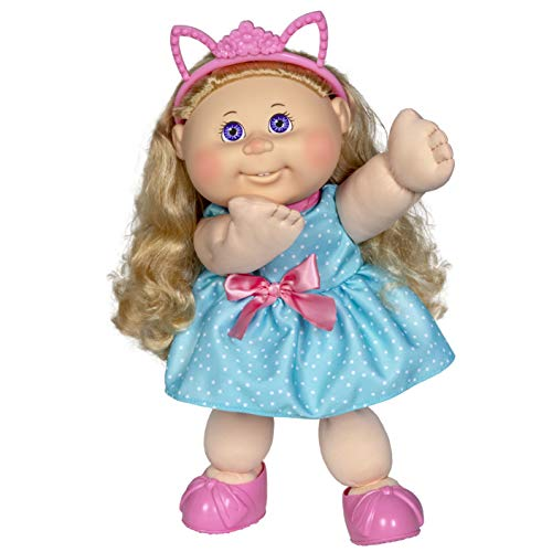 "Cabbage Patch Kids 14"" Kids Doll - Blonde Girl in Polka-Dot Party Outfit"