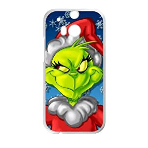 LJF phone case Phone Casae Custom Christmas The Grinch for HTC One M8 Case