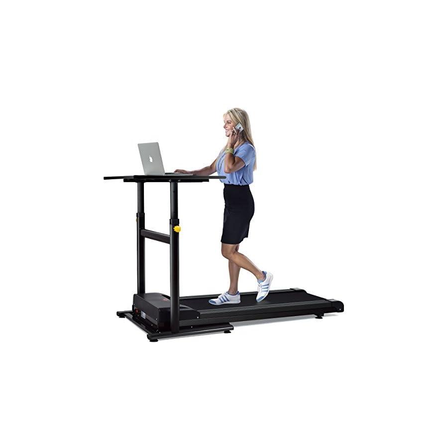 Goplus Treadmill Desk Standing Walking Treadmill Electric Machine W
