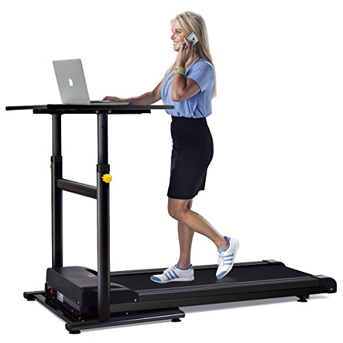 Goplus Electric Treadmill Desk Standing/ Walking Machine W/ Tabletop Height Adjustable Perfect for Office & Home