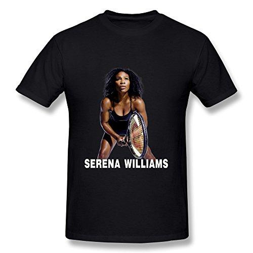 Rong'c Men's Serena Williams 2015 Champions Wimbledon T-shirt Black XXL