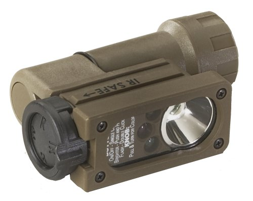 Streamlight 14101 Sidewinder Compact Military Flashlight with C4 LEDs, Helmet Mount and CR123A Lithium Battery, Coyote