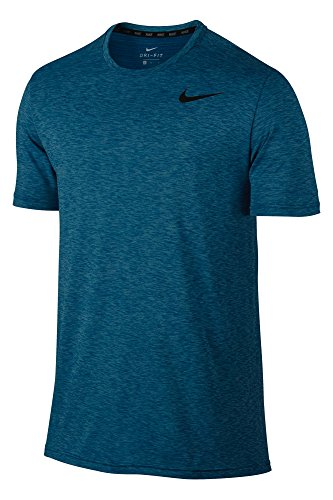 Nike M Nk Brt Ss Hpr Dry Camiseta, Hombre azul (polarized blue / industrial blue / black)