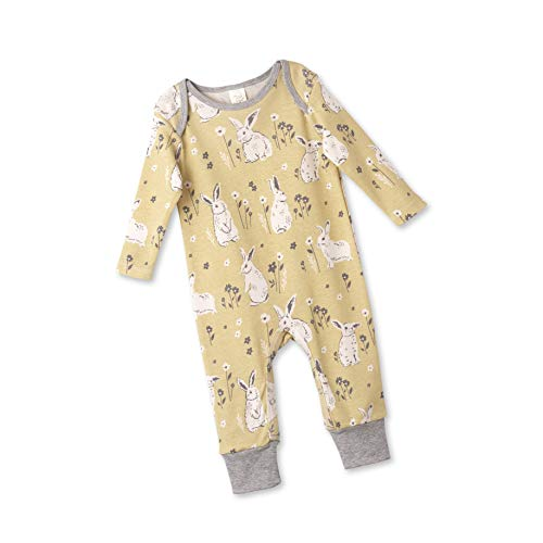 (Tesa Babe Spring Bunny Floral Romper, Newborn & Infant Girls Cotton Playsuit, Yellow(12-18 Months))
