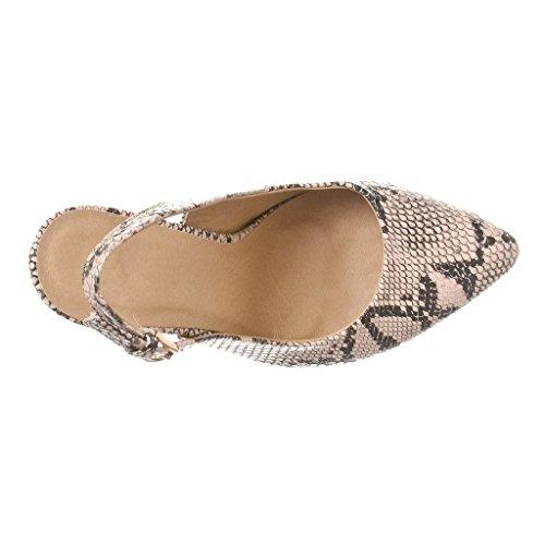 de con correa Mujer 10cm Zapatos Python tobillo Kolnoo HvwzSz