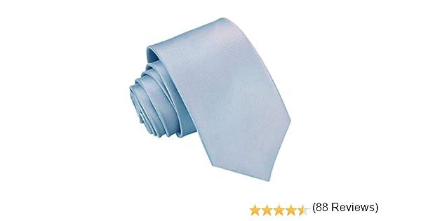 DQT - Corbata de cuello de boda de poliéster satinado brillante ...