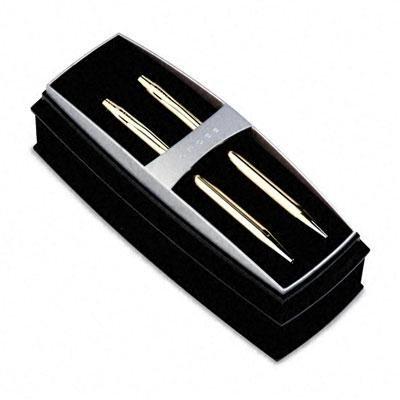 Cross - Classic Century Ballpoint Pen & Pencil Set 10 Kt. Gold Filled ''Product Category: Writing & Correction Supplies/Pen/Pencil Sets & Desk Sets''
