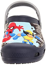 Crocs Marvel Super Hero Squad Jumps Into Action Clog (Toddler/Little Kid),Navy/Silver,4-5 M US Toddler