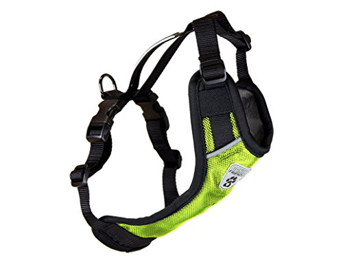 Canine Friendly Vest Dog Harness V.2, Car Restraint Harness, Medium, Lime