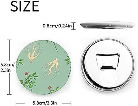 Clips magnéticos de hierbas medicinales de ginseng Natural de moda para nevera 2 piezas abridor de botella de cerveza magnético abridor de nevera