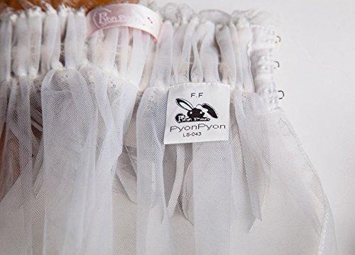 使い方色々、リストアクセ、チョーカー、ヘッドアクセとしても。レース&リボンのマルチユーズアクセサリー 手袋 首飾り ダークゴシック ホワイト レディース Fサイズ LS043WH
