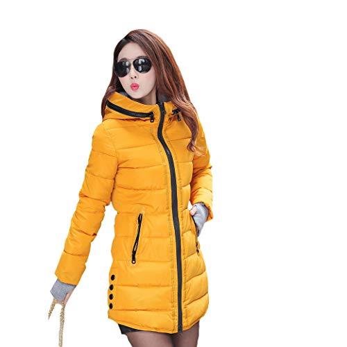 De Mei Abrigo Con Chaqueta Yellow Talla Grande 1pcs Mujer Para Capucha Algodón ndYYXrxR