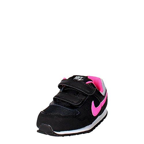 Nike Baby Jungen MD Runner (TDV) Lauflernschuhe Black (Black (Schwarz / Pink Pow-Wolf Grau))