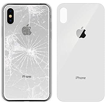 outlet store 67717 30c4b Amazon.com: Apple iPhone X Replacement Back Glass Cover Back Battery ...