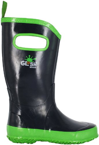 Bogs Kids Solid Rain Boot (Toddler/Little Kid/Big Kid), Navy/Green, 8 M US Toddler