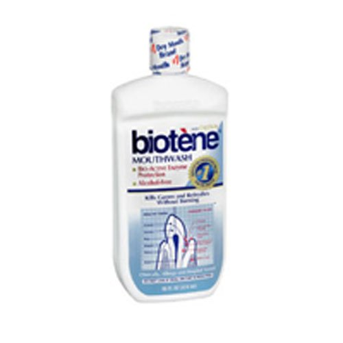 Biotene Dry Mouth Oral Rinse, Fresh Mint 16 oz (Pack of 5)