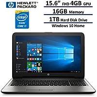 2017 HP 15.6 Full HD IPS UWVA (1920 x 1080) Laptop: Intel 7th Gen i7-7500U, 16GB DDR4 RAM, AMD Radeon R7 4GB GPU, 1TB HDD, 802.11AC, Windows 10 Home