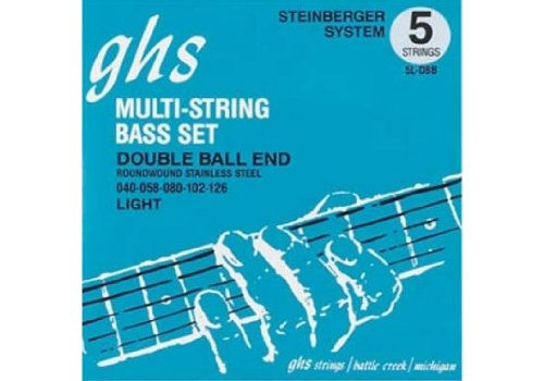(GHS 5l-DBB Double Ball End Roundwound Light Electric Bass Strings - 5-String )