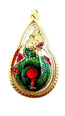 Naga eye gems red color powerful protection lucky & success holy pandant crystal with amulet - Roberto Coin Elephant Jewelry Set