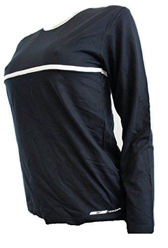 Reebok Noir de jais stretch à manches longues Sports Top