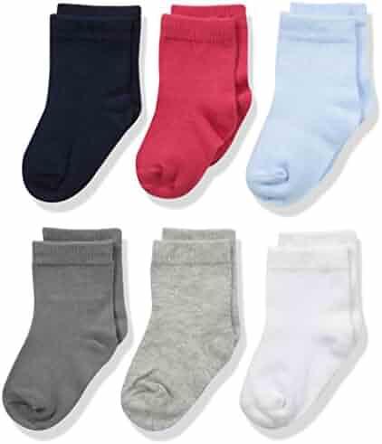 Luvable Friends Baby Basic Socks, 6 Pack