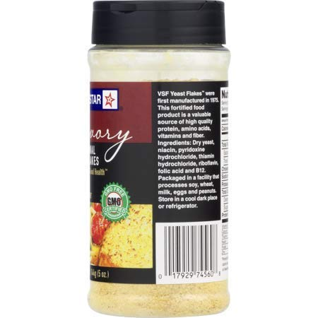 Red Star Yeast Flake Nutritional Shaker Jar, 5 oz (Pack of 4) by Red Star (Image #4)
