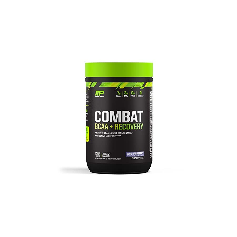 MusclePharm Combat BCAA + Recovery, BCAA 10 Grams, Electrolytes, Post Workout Recovery, BCAA Post Workout Powder, Enhanced Recovery, Pre Workout Formula, Fruit Punch, 1.99 Pounds, 30 Servings