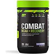 MusclePharm Combat BCAA + Recovery, 7g BCAAs, 3g EAAs, Electrolytes, Post-Workout Recovery, BCAA Post-Workout Powder, Enhanced Hydration, Blue Raspberry, 30 Servings