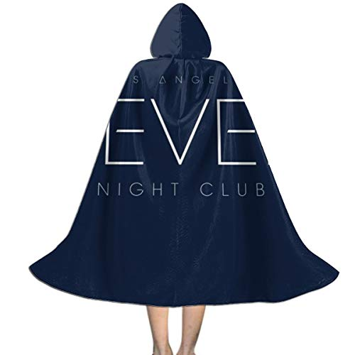 Fever Night Club Los Angeles Collateral Unisex Hooded Cloak Cape Halloween Party Decoration Role Cosplay Costumes Black (Best Halloween Decorations Los Angeles)