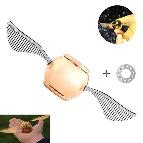 MAYBO SPORTS Wiitin Bearing Replaceable Harry Potter Fidget Spinner with Spare Bearing and Tools, The Original Golden Snitch Used in Quidditch Made by Metal]()