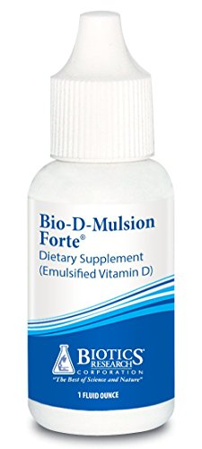 Biotics Research Bio-D-Mulsion Forte © - Vitamin D3 Liquid Drops 2000 IU for Best Absorption, Strengthens Bones, Supports the Immune System, Cardiovascular System (Vitamin D3 Forte)