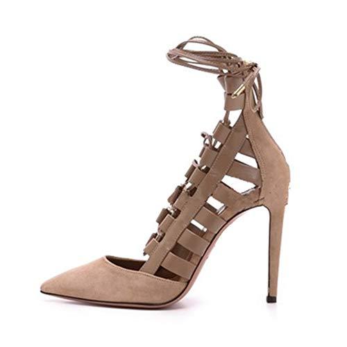 Heel Frauen Geschlossene High Schuhe Mode Spitze Einzelne Schlanker High Abendkleid Absatzhöhe Bankett Spitze Zehe Hollow 12Cm Heels Schuhe Rom vrq7v5OfH