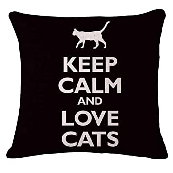 Amazon.com: YANG XUE ZHI 45X45CM Keep Clam Love Dog Cushion ...