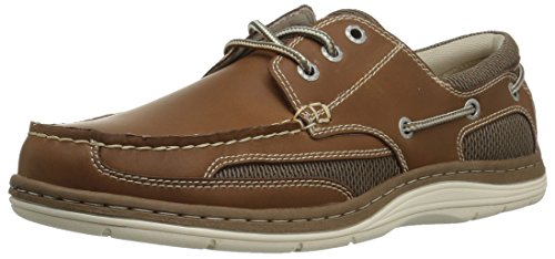 Dockers Men's Lakeport Boat Shoe, Dark Tan, 8 W US