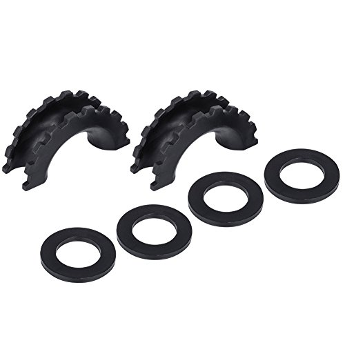 Buy Liteway Black D-Ring/Shackle Isolator Kit 2 Pieces Shackle Isolator and 4 Pieces Washer for 0.7...