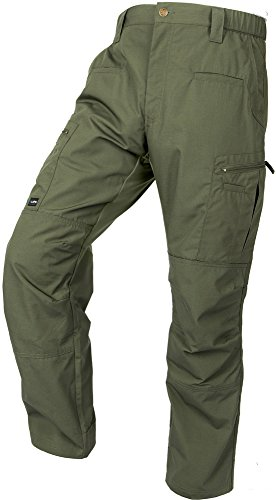 LA Police Gear Men's Teflon Coated Water Resistant STS Atlas Tactical Cargo Pant OD Green-36 x 32