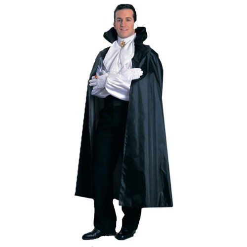 Black Taffeta Cape with