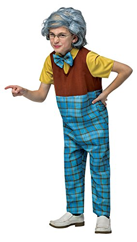 Old Man Halloween Costume For Kids (Boys Halloween Costume-Grandpa Kids Costume Medium 7-10)