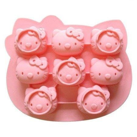 Hello Kitty Design Frozen Pudding Candy Jelly Ice Mold Cube Tray Silicone Mould]()